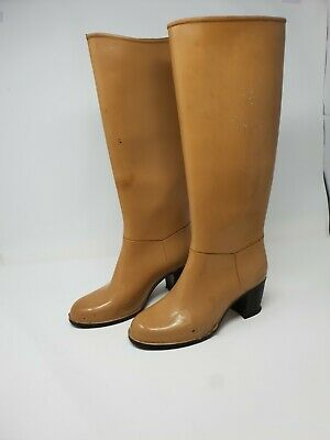 £25 • Buy Rotanni Italian Heeled Rubber Boots, Wellingtons, Wellies Size 5 Festival Sexy