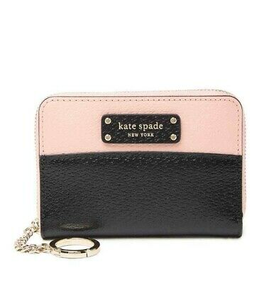 $ CDN53.28 • Buy KATE SPADE Jeanne Leather Small Key Continental Wallet  Black Warm Vellum NWT