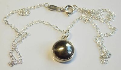 £16.45 • Buy Exquisite Sterling Silver Mount & Iron Pyrite Round Cabochon Pendant.