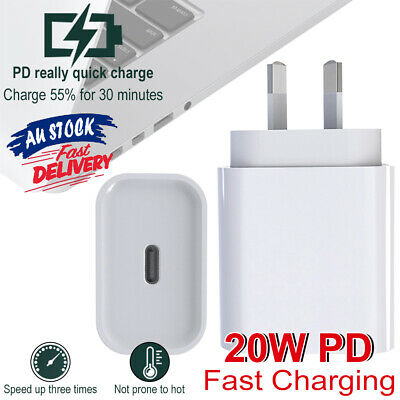 AU18.78 • Buy PD20W Fast Charger Mini Compatible With IPhone 12 Pro Max USB AU Plug Nano