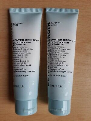 Peter Thomas Roth Water Drench Cloud Cream Cleanser - 2 X 30ml SEALED • 9.99£