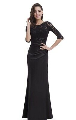 £15 • Buy Ever Pretty Dress Black Lace Prom Gown Evening Size 14 New