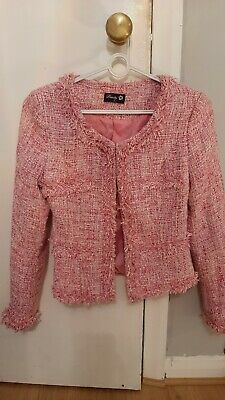 CC Style Jacket Pink Tweed Size Small  • 12.99£