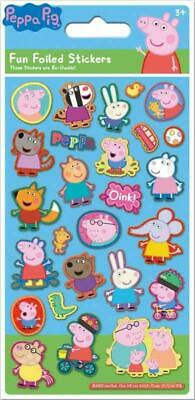 Peppa Pig Blue Foil Reusable Stickers Party Bag Filler Childrens Activity Gift • 1.95£