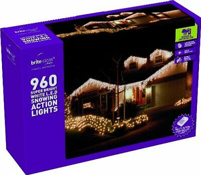 Festive Productions Snowing Icicle 960 LED Lights - White • 93.99£