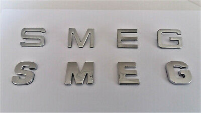 £4.90 • Buy New Chrome / Silver Smeg Letters / Word Self Adhesive. Similar Font To Original