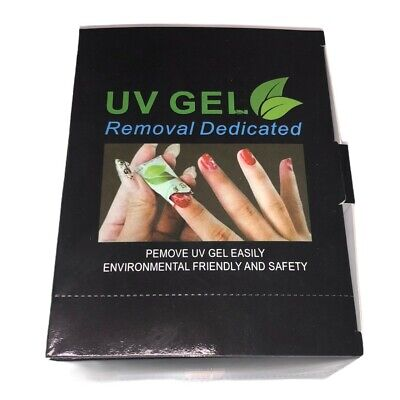 UV Gel Cleanser Wipes Prep Wipe Alcohol Gel Polish Nail Remover Wrap No Residue • 3.49£