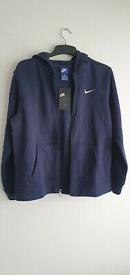 Nike Air Fleece Jacket Blue Full Zip Unisex Youth Age 13-15 Years Old Kids XL  • 30£