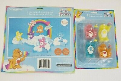 Vintage Care Bears Party Decorations Table Centerpiece And 4 Candles NEW • 27.01£