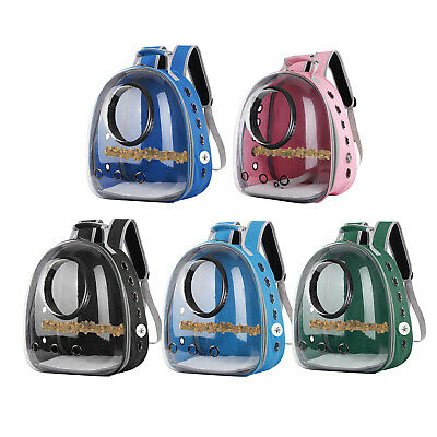 Bird Travel Carrier Transport Cage Breathable Parrot Go Out Backpack Bag Outdoor • 32.77£