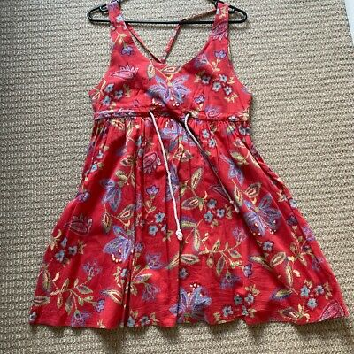 AU30 • Buy Tigerlily Summer Beach Dress Size 6, Red Floral Pattern, Great Preowned Conditio