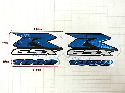 $28.48 • Buy GSXR Raised 3D Emblem For Suzuki GSXR1000 Chrome Blue Streak Decal Sticker Bling