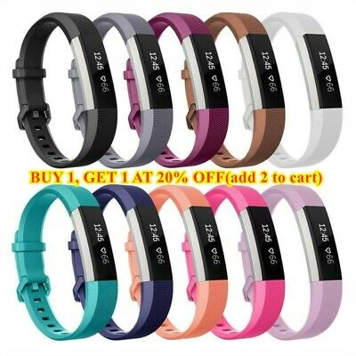 AU3.65 • Buy Silicone Replacement Wristband Watch Band Strap For Fitbit Alta/ Fitbit Alta HR-