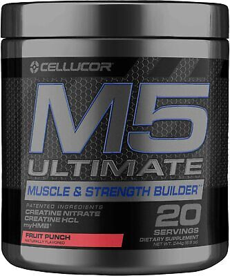 $24.99 • Buy Cellucor M5 Ultimate - Creatine Post Workout Powder - 20 Servings - Fruit Punch