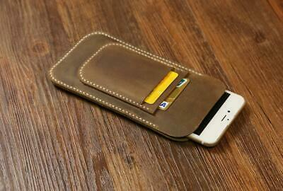 AU33.39 • Buy Distressed Leather IPhone 12 11 Pro Max Case Sleeve Wallet With Card Holder