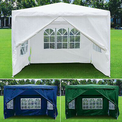 £53.99 • Buy 3x3M Gazebo With Sides Waterproof Marquee Canopy Garden Patio Wedding Party Tent