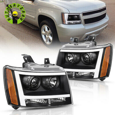 $202.01 • Buy Black Headlights Assembly For 2007-2014 Chevy Avalanche/Suburban/Tahoe + LED DRL