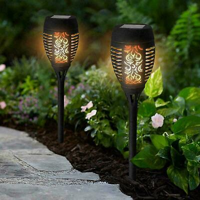 Dancing Flame Torch Solar Power Led Light Post Ground Stick Stake Pathway Garden • 12.99£