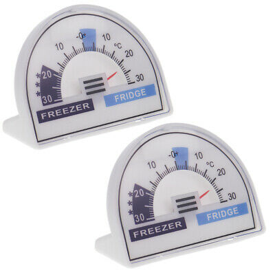 £7.25 • Buy Pack Of Two Crescent Dial Fridge Freezer Thermometers - In-197