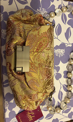 £3.50 • Buy Leko Of London Gold Embroidered Bag Bnwt