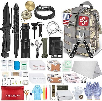 $55.98 • Buy Survival Molle First Aid Kit Emergency Gear Military Trauma Bag Professional 152