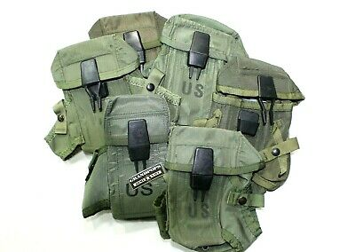 $16.99 • Buy U.s. Used Original O.d. Green Alice System 3 Cell M16 Surplus Magazine Pouch