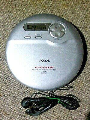 Aiwa XP-EV500 Personal CD Player & Panasonic Earphones • 20.99£