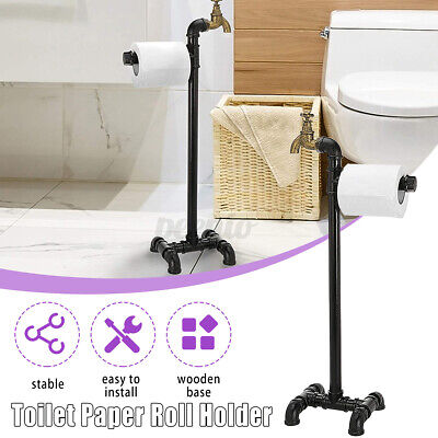 AU31.82 • Buy Industrial Iron Toilet Paper Tissue Rack Holder Stand Storage Home Bathroom A