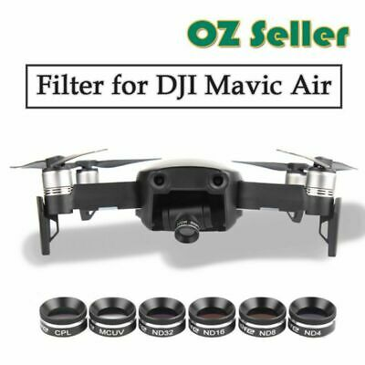 AU68.99 • Buy Professional MCUV+CPL+ND4+ND8+ND16+ND32 Camera Lens Filter For DJI Mavic Air