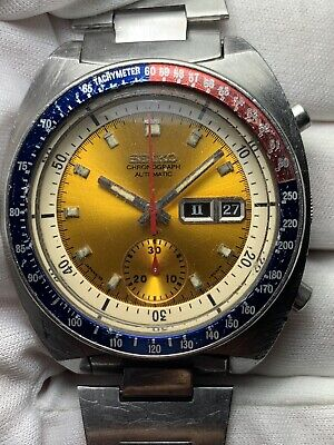 $ CDN979.99 • Buy Seiko Pogue 6139 6002 Everything Authentic And Working Yellow Dial