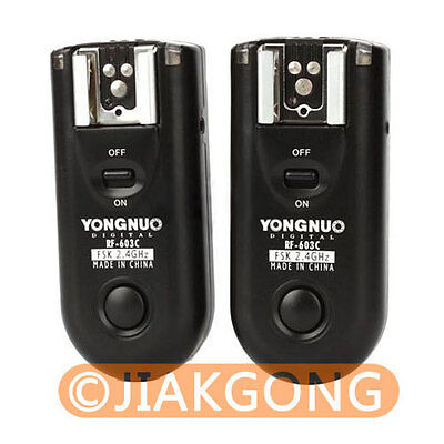 Yongnuo RF-603 C3 Wireless Remote Flash Trigger For Canon 7D 5D 40D  5D II • 25.50£