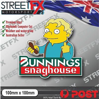 AU6 • Buy Bunnings Snaghouse Sticker Decal Aussie Straya 4x4 Car Ute Illest YTB Funny