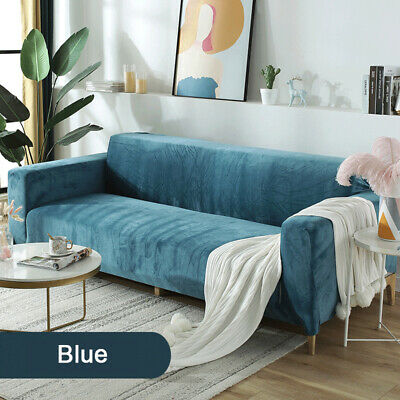 AU21.29 • Buy Stretch Couch Covers Velvet Sofa Covers Slip Covers Soft Thick 1/2/3/4 Seater