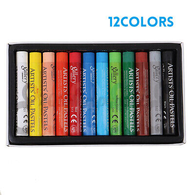 Artist Oil Pastels Set 12, 25, 48 Assorted Colors Pencil Crayons Drawing H • 19.99£