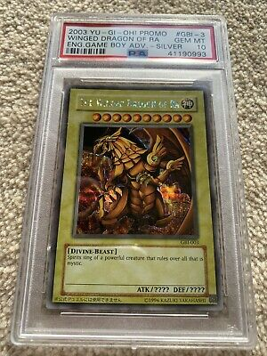 Yugioh The Winged Dragon Of Ra Psa 10 GBI-001 Silver Secret Egyptian God Card • 2,999.99£