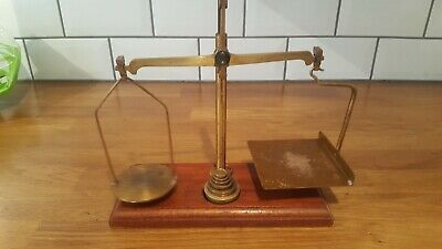 Vintage De Grave Short & Co Ltd Gpo Post Office Scales Complete With Weight • 18£