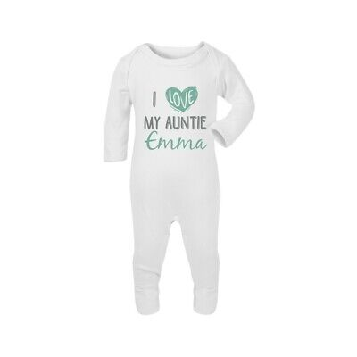 I Love My AuntiePersonalised Baby Romper Bodysuit Funny Gift Cute Grow • 8.99£