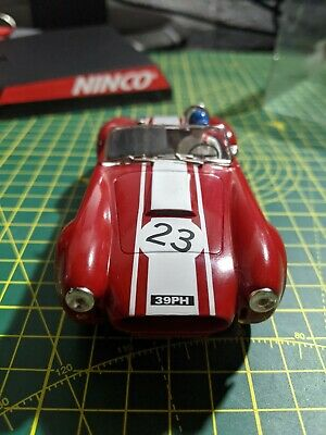 50196 Ninco Shelby Cobra Goodwood 64 Red No 23 Slot Car AC • 44£