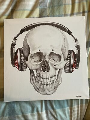 Skull And Headphones Canvas • 10.50£