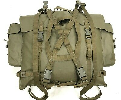 Swiss Army M90 Rubber Vinyl Backpack Bag Military Water Resistant Olive #3215 • 24.95£