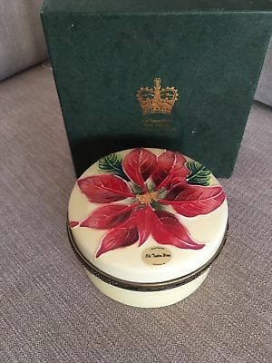 Old Tupton Ware Tube Lined Poinsettia Large Trinket Box Jeanne Mcdougall Boxed • 22.99£