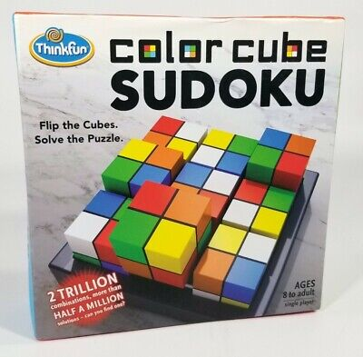 Thinkfun Color Cube Sudoku Puzzle Game Flip The Cubes Solve The Puzzle EUC • 19.77£
