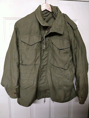 $69.99 • Buy Vintage US Army M65 Cold Weather Field Jacket OG-107  Small XShort