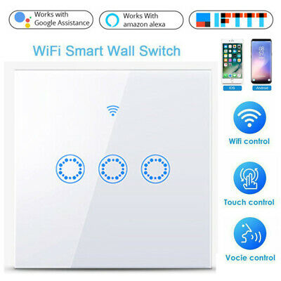 AU21.84 • Buy Smart WiFi Light Touch Switch Panel Wall Socket App Timing For Alexa Google Home
