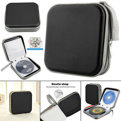 40 CD DVD Carry Case Disc Storage Holder CD Sleeve Wallet Ideal For In Car BLACK • 3.85£