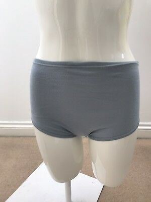 School Knickers, 3 Pairs Of Gymphlex Netball Knickers Grey Size Medium • 9£