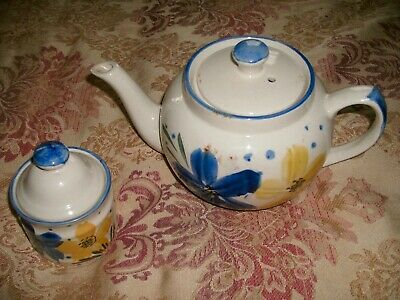 £9.99 • Buy Vintage Crown Dynasty  Tea Pot And Small Pot With Lid