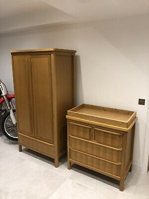 Marks And Spencer Chloe Nursery Furniture Oak Cot Bed Wardrobe And Changing Unit • 299£