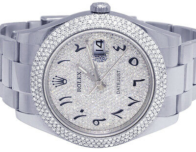 $ CDN17639.76 • Buy Mens Rolex Datejust II 116300 41MM Stainless Steel Pave Dial Diamond Watch 5 Ct
