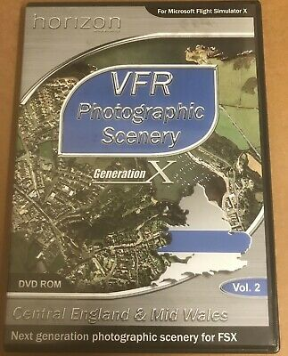 VFR Photographic Scenery Vol 2: Central England & Mid Wales For FSX PC DVD  • 27£